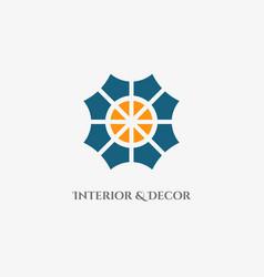 Mosaic abstract emblem vector
