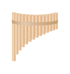 pan flute in light brown design vector image