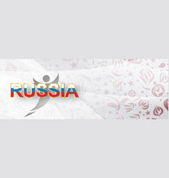 paper art of russian with modern and traditional vector image
