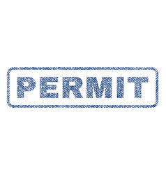 permit textile stamp vector image