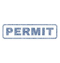 Permit textile stamp vector