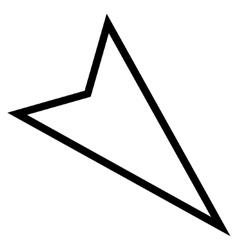 Pointer Right Down Stroke Icon vector