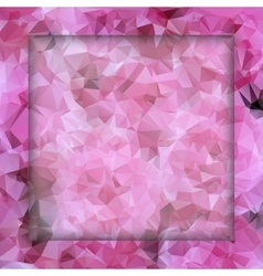 Polygon pink pattern vector