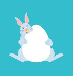 rabbit and egg easter hare vector image