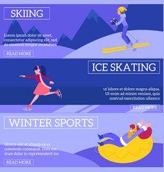 set of winter sports banners vector image
