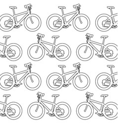 sport bicycle pattern background vector image