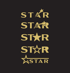star graphic design template isolated vector image