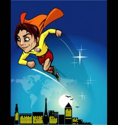 Super hero cartoon vector