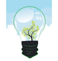 Tree in a Lightbulb vector image
