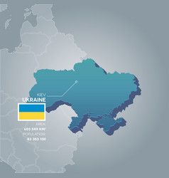 ukraine information map vector image