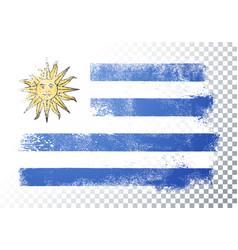 vintage grunge texture flag uruguay vector image