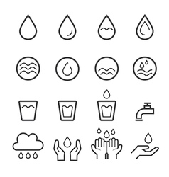 Water icon line vector
