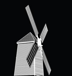 Wind turbine eco concept vector