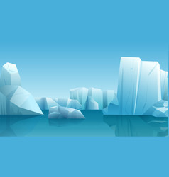 Winter of nature arctic vector