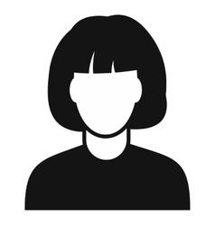 Woman avatar simple icon vector