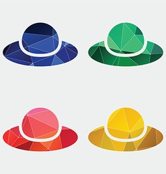 woman hat icon Abstract Triangle vector image