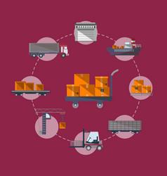 worldwide commercial cargo shipping service vector image
