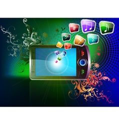 mobile background vector image vector image