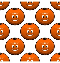 Seamless pattern of oranges fruits vector image vector image