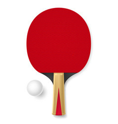 tennis racket with white ball on white background vector image vector image