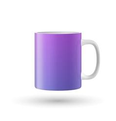 Color mug on white background vector image