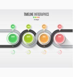 navigation map infographic 4 steps timeline vector image vector image