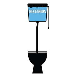 recession on toilet vector image vector image