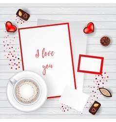 Valentine Day Scene Creator Mock up vector image vector image