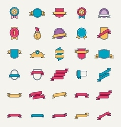 linear badges and ribbons vector image vector image