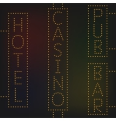 Night lights signs vector image