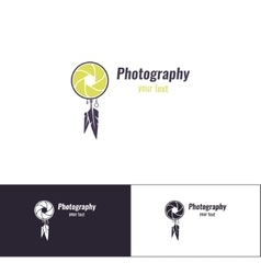 Photography logo five vector
