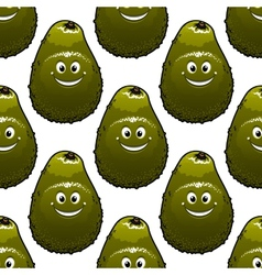 Seamless background pattern of avocado vector