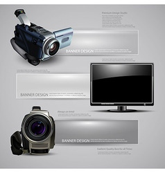 Technology document template vector image vector image