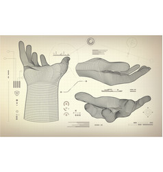 threereachinghand vector image vector image