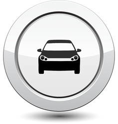 Button with car icon vector image vector image