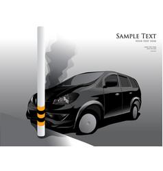car crash street light vector image
