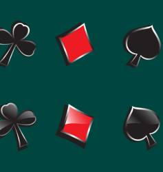 glossy symbols of playing cards vector image vector image