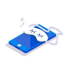 isometric mobile phone sleep vector image