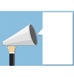 Megaphone and Speech Bubble vector image vector image