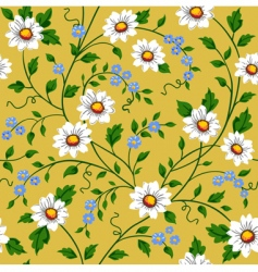 seamless daisy pattern vector image vector image