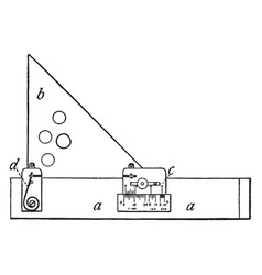Section liner a draftsmans tool one handy volume vector