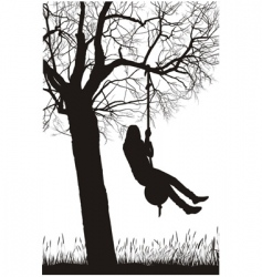 silhouette nature vector image