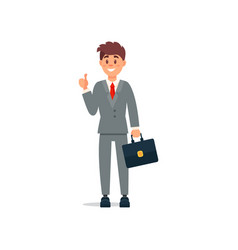 smiling businessman in formal clothes standing and vector image