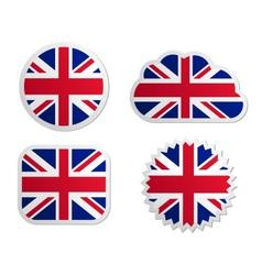 United Kingdom flag labels vector image vector image