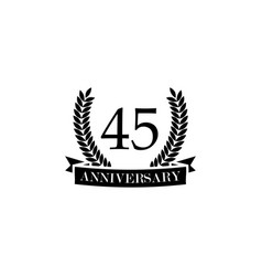 45 anniversary sign element of anniversary sign vector image