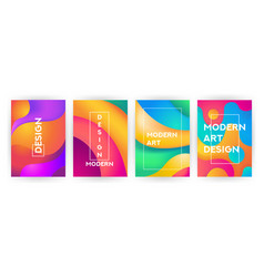 abstract background set fluid geometric design vector image