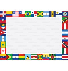 American countries flag frame vector