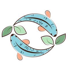 Aquaponic logo vector