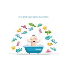baby bath toys vector image
