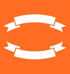 badge icon ribbon in flat style on orange vector image